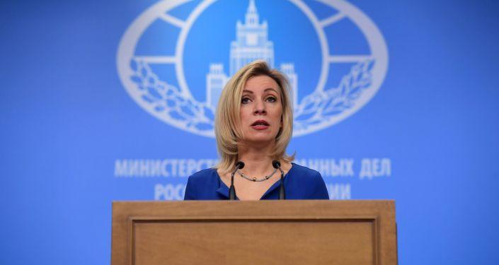Oficiální představitelka MZV Ruska Maria Zacharovová