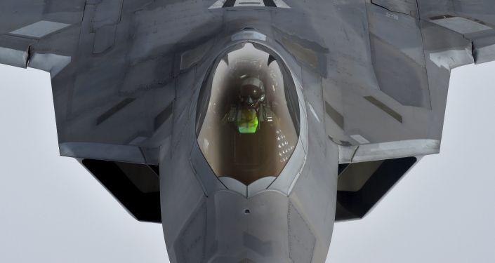 F-22 Raptor, který se účastní operací nad Sýrií