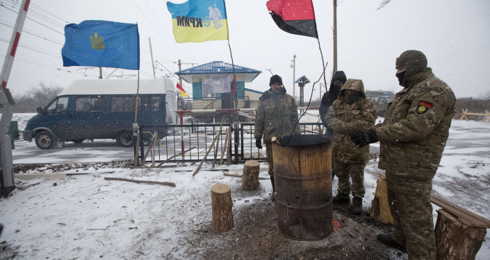 Účastníci blokády v okolí Torecku