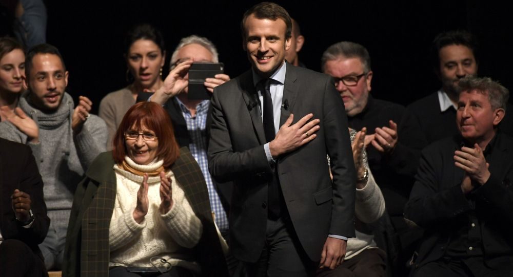 Kandidát na prezidenta Francie, bývalý ministr hospodářství Emmanuel Macron