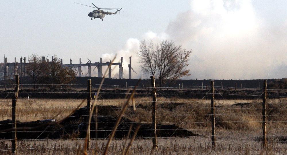 Vrtulník ukrajinské armády v Luhanské oblasti. Archivní foto