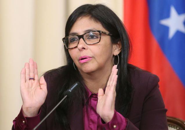 Ministryně zahraničí Venezuely Delcy Rodriguezová