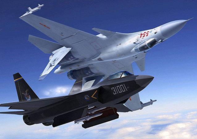 Čínské stíhačky J-31 a J-20