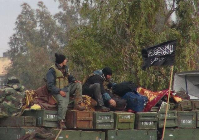 Bojovníci teroristické skupiny Džabhát an-Nusra