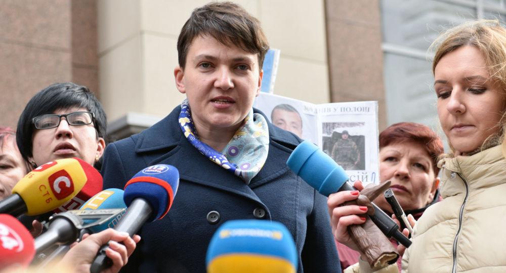 Poslankyně Nejvyšší rady Ukrajiny Naděžda Savčenková