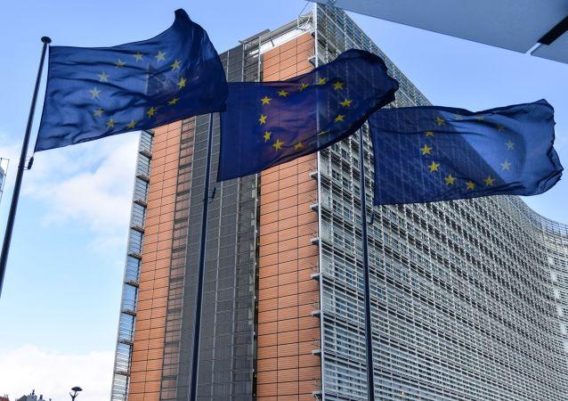 Vlajky EU v Bruselu. Ilustrační foto