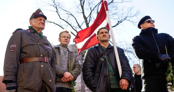 Pochod veteránů Waffen SS Rigou