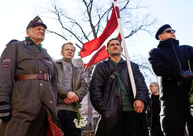 Pochod veteránů SS v Rize