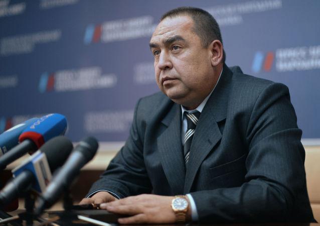 Hlava neuznané Luhanské lidové republiky Igor Plotnickij