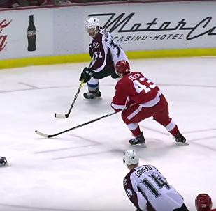 Hokejista na zápase NHL rozbil fanouškovi obličej přes mezeru v mantinelu