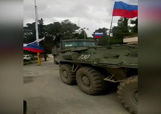Ruská vojenská technika dorazila do Afrinu