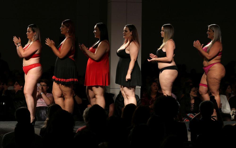 Ukázka spodního prádla XXL v Brazílii