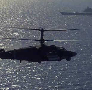 Lety a střelby vrtulníků Ka-52K a Ka-29