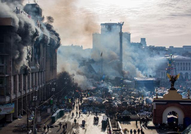 Střety opozice a policie na Majdanu v Kyjevě. Ilustrační foto