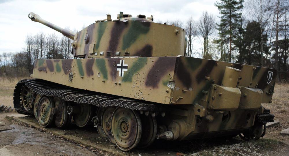 Německý tank T-VI Tygr v muzeu v Moskevské oblasti