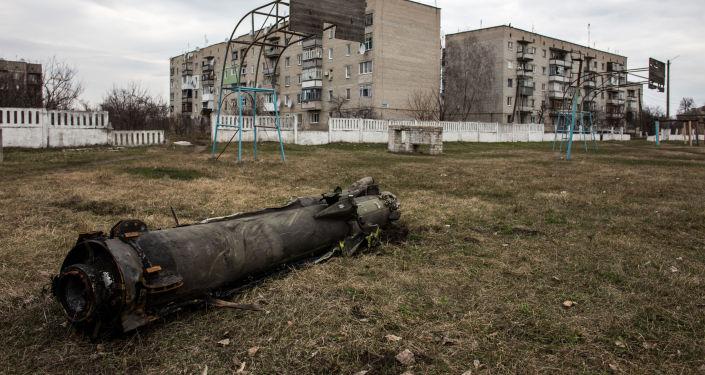 Pozůstatky rakety po požáru na skladě v Balakliji