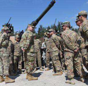 Američtí vojáci během cvičení v Německu