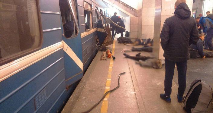 Výbuchy v metru Petrohradu