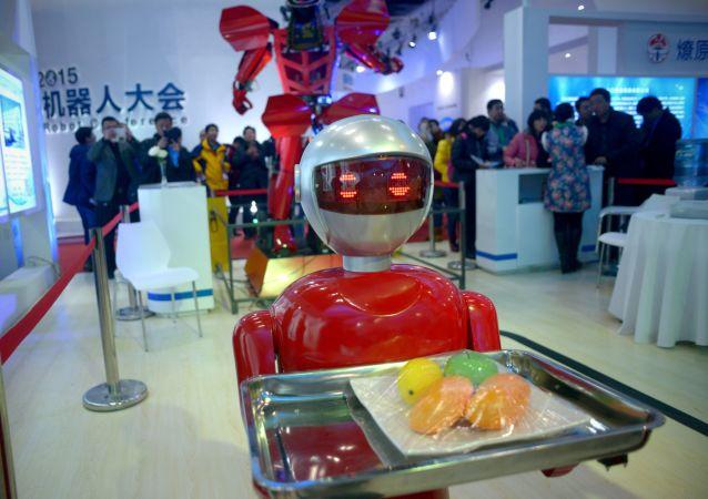 Výstava robotů v Pekingu
