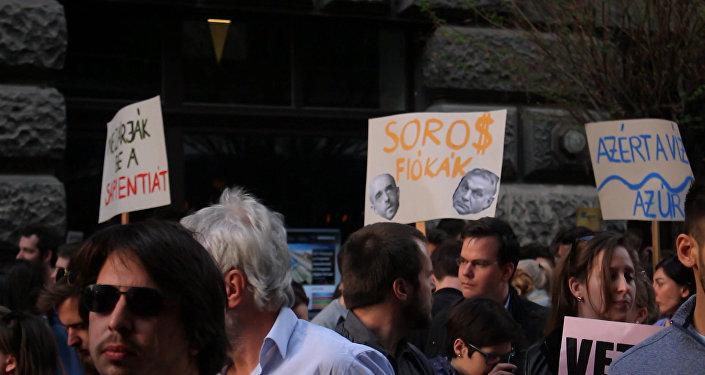 V Budapešti se konají protesty.