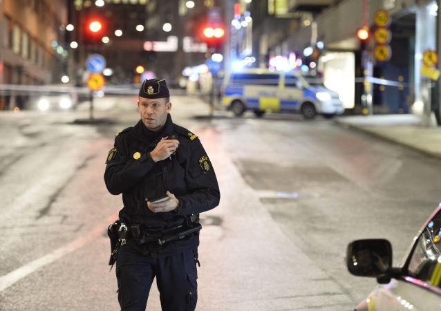 Švédský policista, ilustrační foto