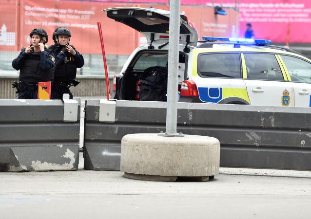 Policie v centru Stockholmu