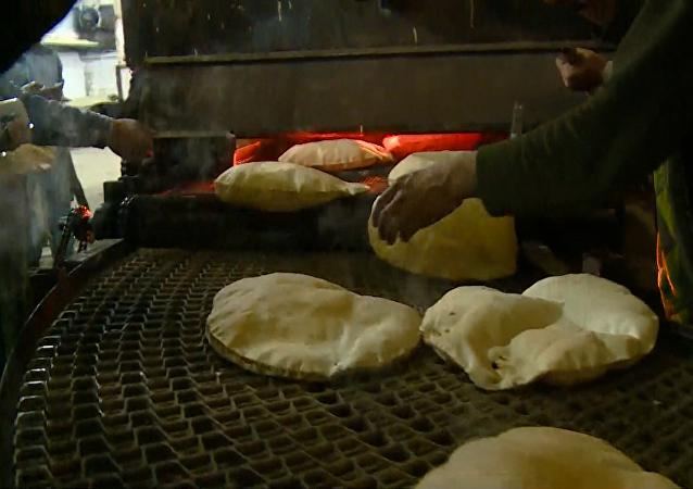 Zrekonstruovaná pekárna v Sýrii
