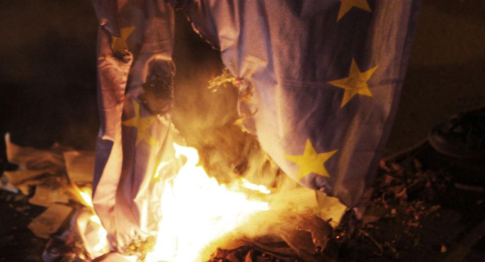 Hořící vlajka EU