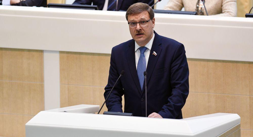Předseda mezinárodního výboru Rady federace Konstantin Kosačov