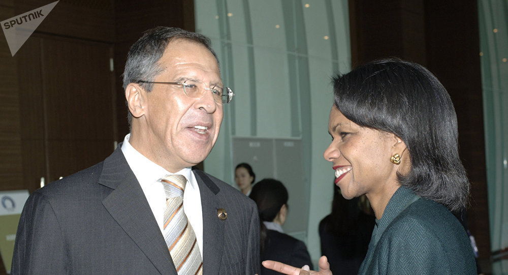 Sergej Lavrov a Condoleeza Riceová