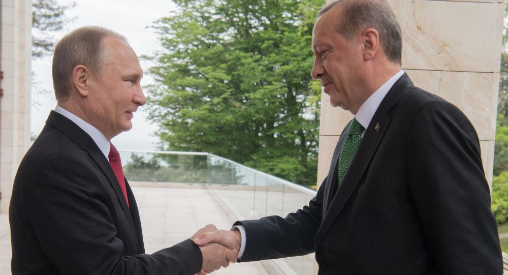 Setkání Vladimira Putina s Erdoganem
