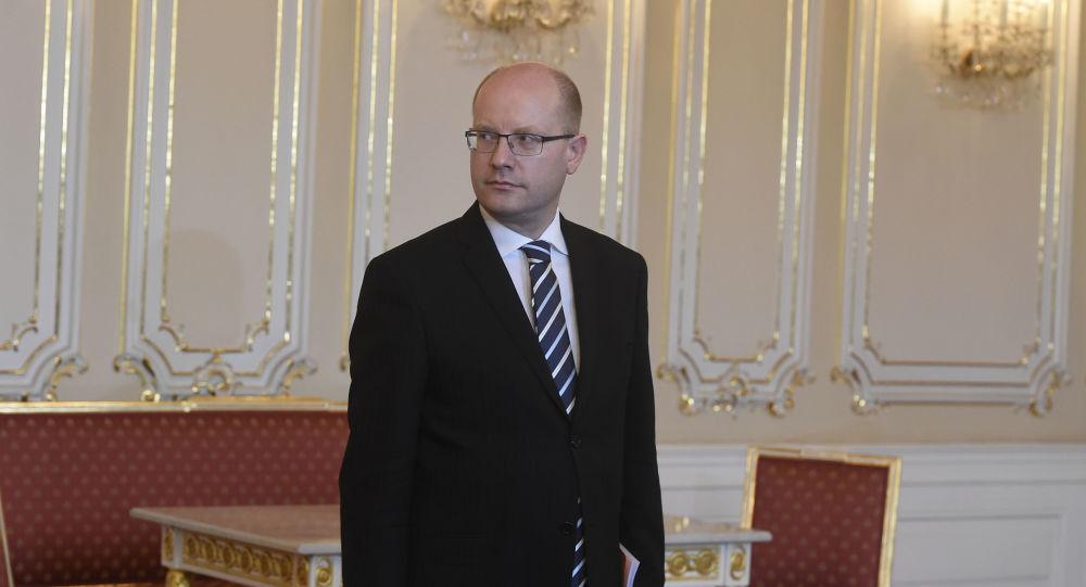 Český premiér Bohuslav Sobotka