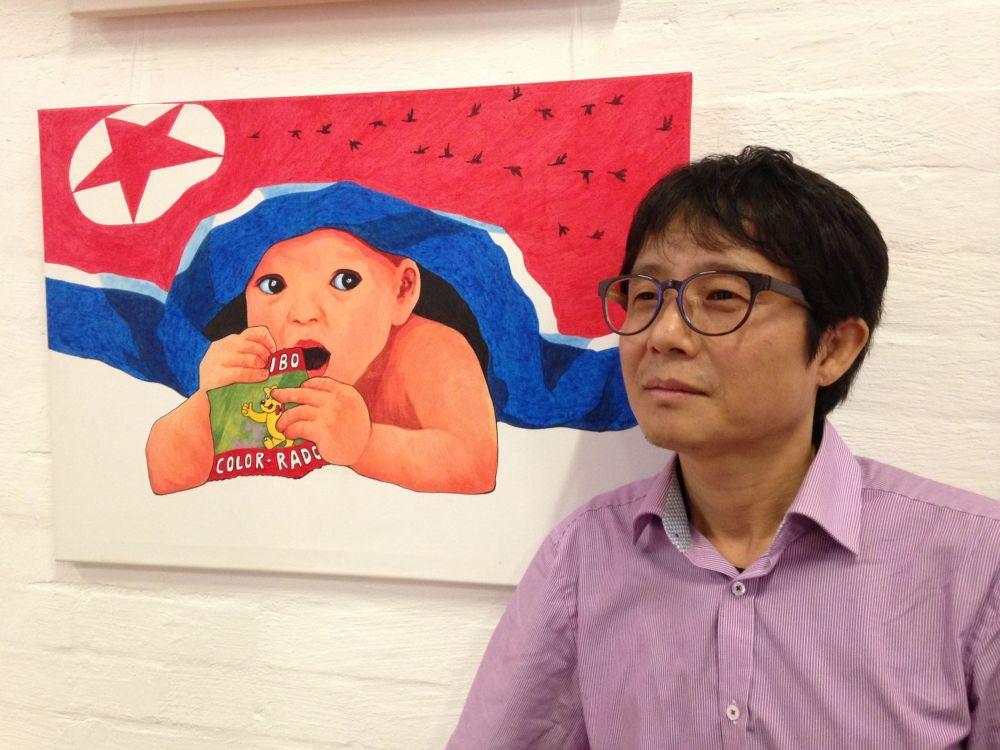 Výstava díl malíře, který uprchl z KLDR