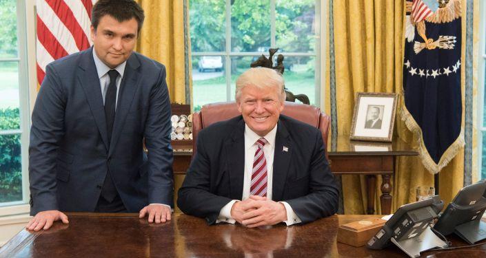 Pavel Klimkin a Donald Trump