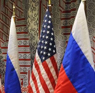 Vlajky Ruska a USA