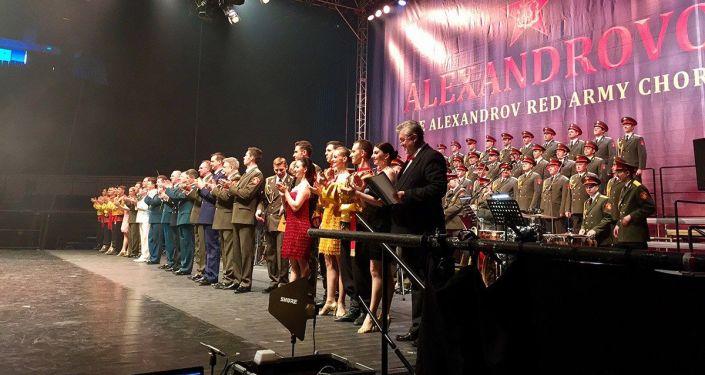 Akademický armádní Alexandrovův soubor během turné v ČR