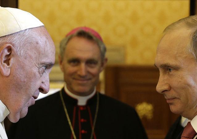 Vladimir Putin a papež František