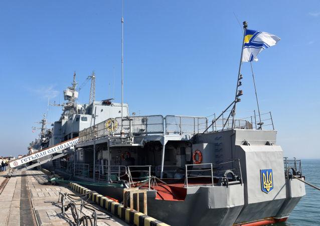 Vlajková loď ukrajinského vojenského námořnictva Hetman Sahajdačnyj