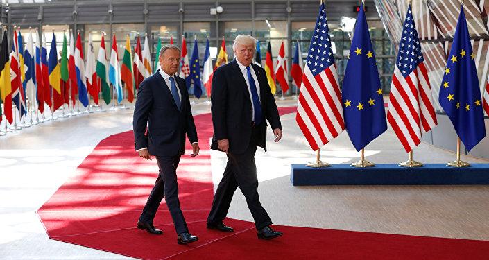 Americký prezident Donald Trump a Donald Tusk