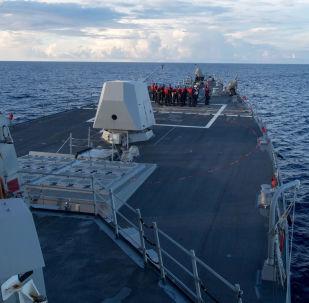 Minonoska vojenského námořnictva USA Dewey v Jihočínském moři. Ilustrační foto