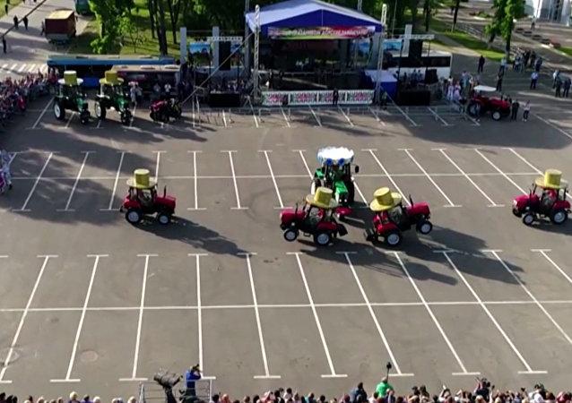 Běloruský traktorový balet