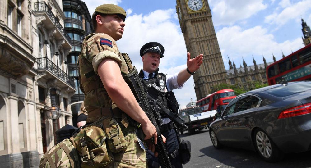 Policisté v Londýně. Ilustrační foto
