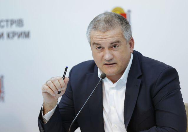 Vládní představitel Krymu Sergej Aksjonov
