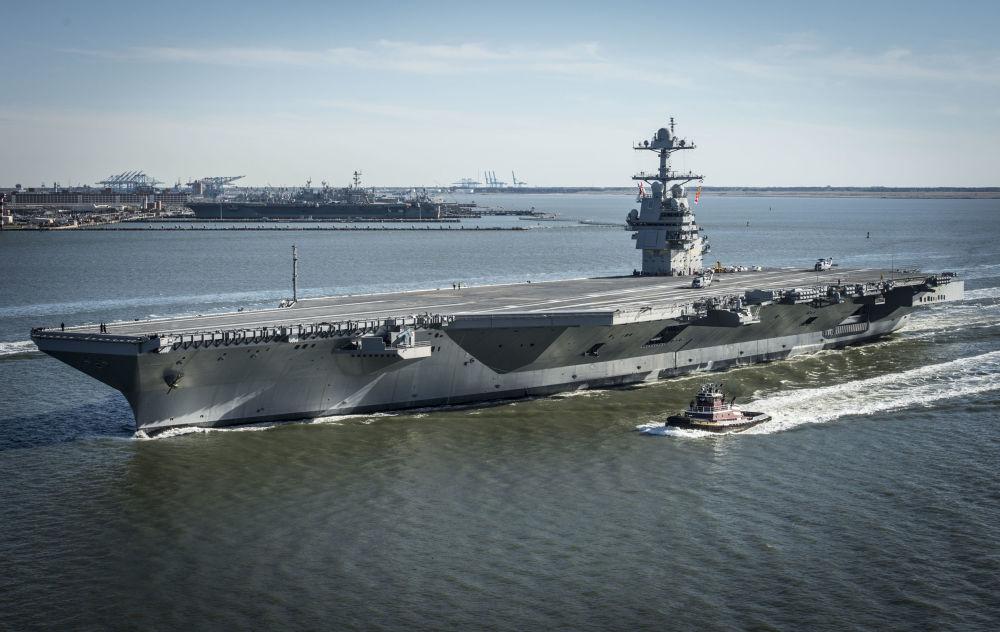 Nejdražší letadlová loď na světě Gerald Ford