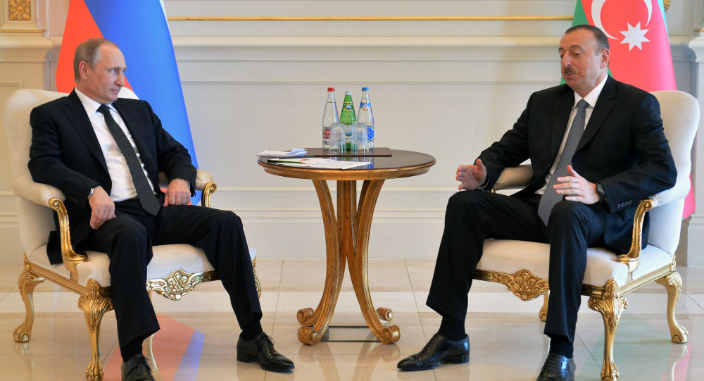 Vladimír Putin a Ilham Alijev