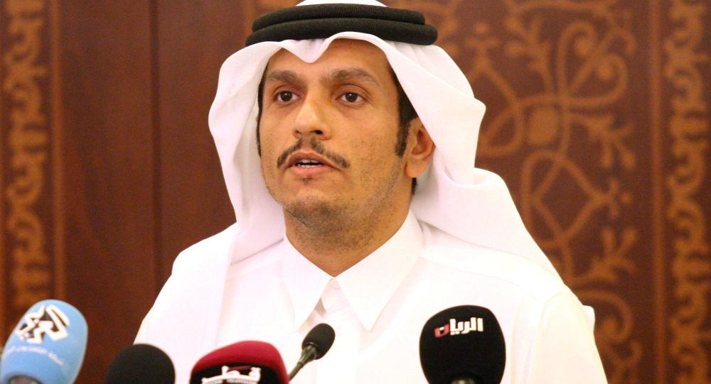 Katarský ministr zahraničí Muhammad bin Abdarrahmán Sání