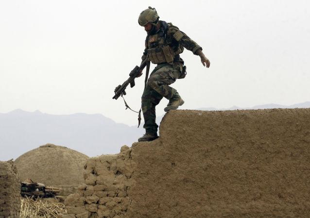 Americký voják v Afghánistánu. Ilustrační foto