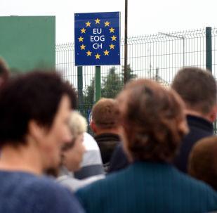 Ukrajinci na polsko-ukrajinské hranici