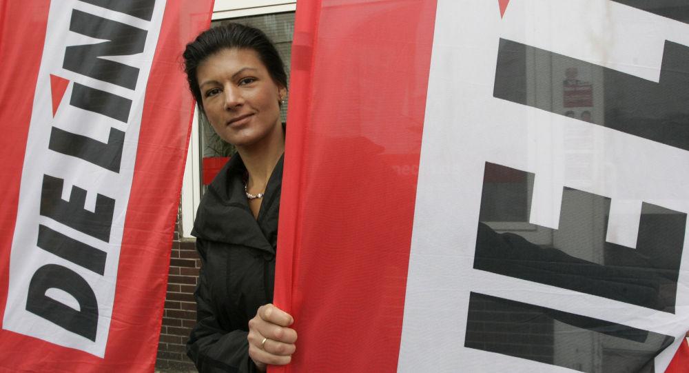 Německá politička Sahra Wagenknecht