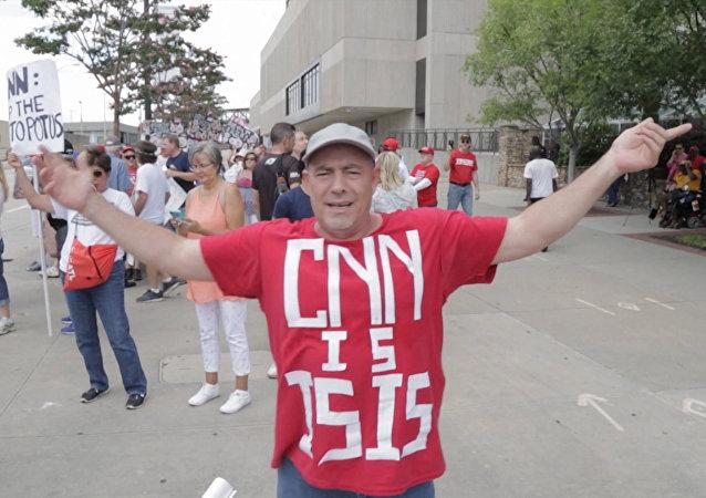 V USA u sídla CNN proběhla demonstrace proti informační politice televizní stanice